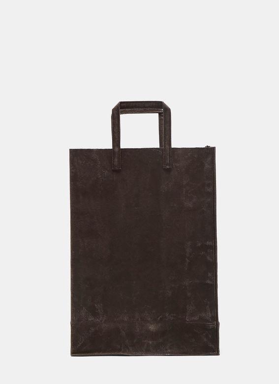 funagata  unisex f waxed canvas bag in charcoal