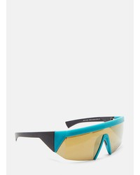 mykita  x bernhard willhelm vice mm8 sunglasses in turquoise