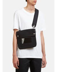 raf simons  x eastpak crossover bag in black