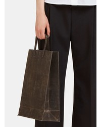 funagata  unisex f waxed canvas bag in charcoal