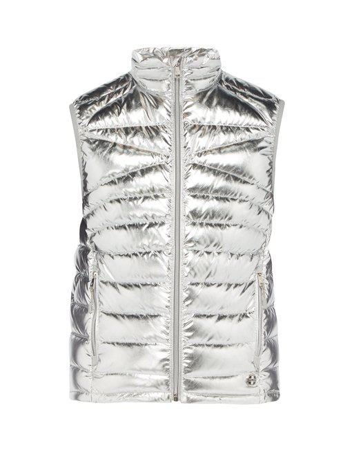 metallic down-filled gilet