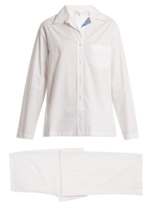 congo patch-pocket cotton pyjamas
