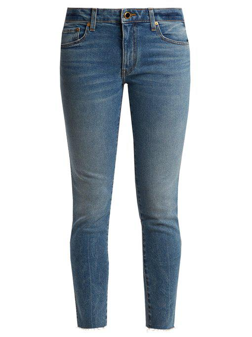 alissa mid-rise slim-leg boyfriend jeans