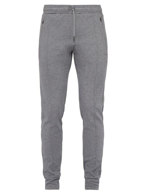 prep cotton-blend track pants