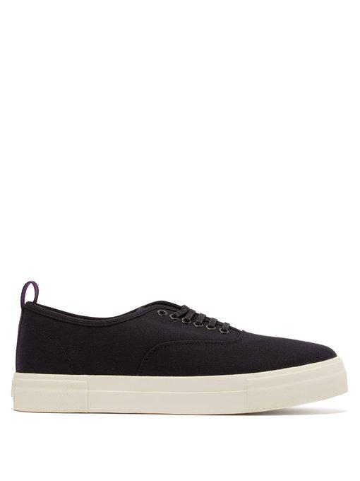 mother canvas low-top trainers
