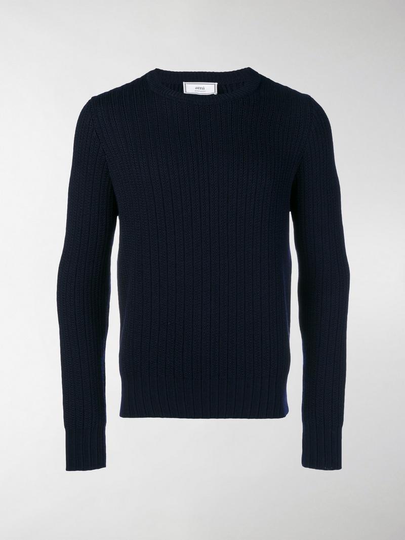 ami alexandre mattiussi - ribbed crew neck sweater