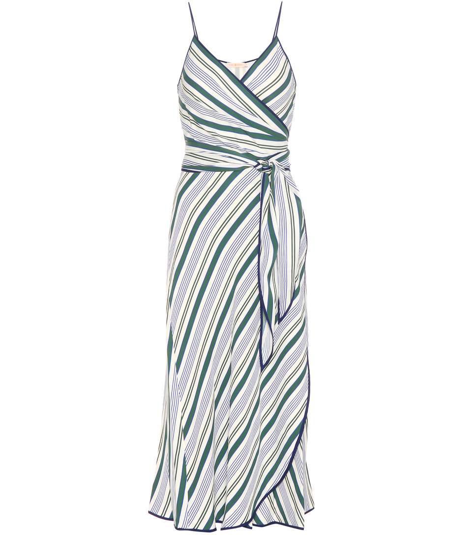 villa striped wrap dress