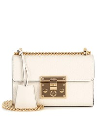 padlock small leather shoulder bag