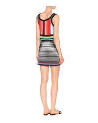 striped knit cotton minidress