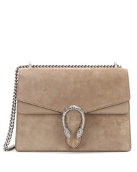 dionysus medium suede and leather shoulder bag