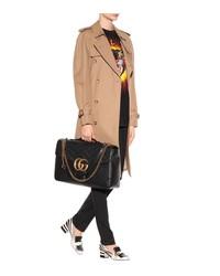 gg marmont maxi leather shoulder bag