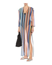 striped silk cover-up