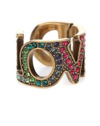 love crystal-embellished ring