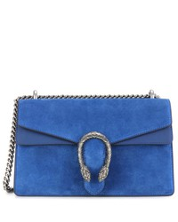 dionysus small suede and leather shoulder bag