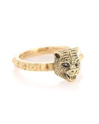 le marché des merveilles 18kt gold ring with diamonds