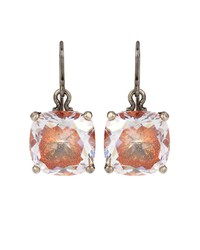 sterling silver earrings with cubic zirconia