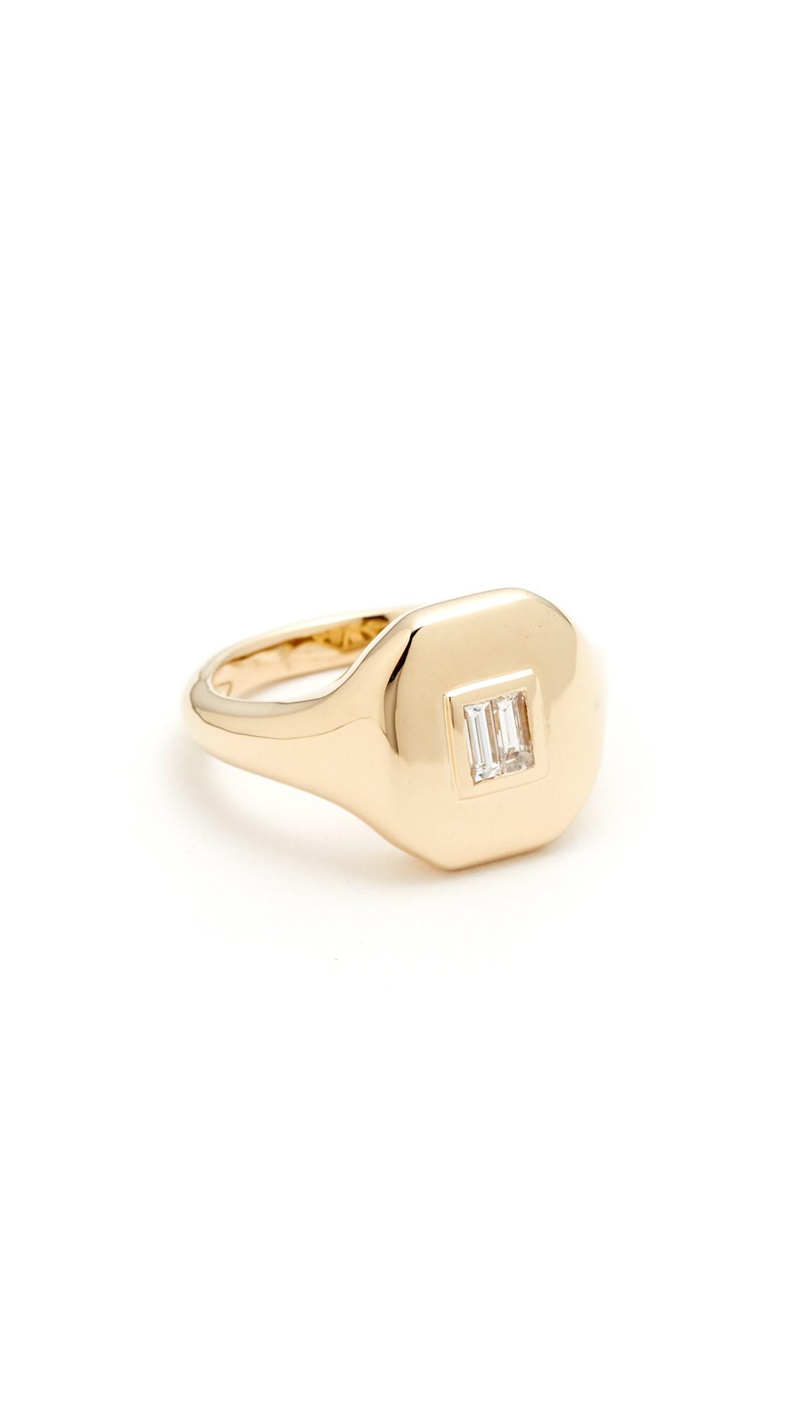 shay essential diamond pinky ring