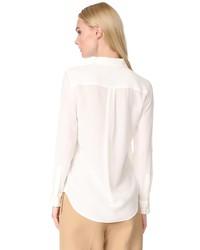 equipment slim signature blouse