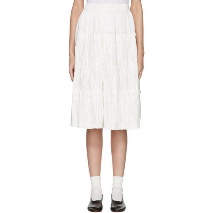 off-white panel skirt