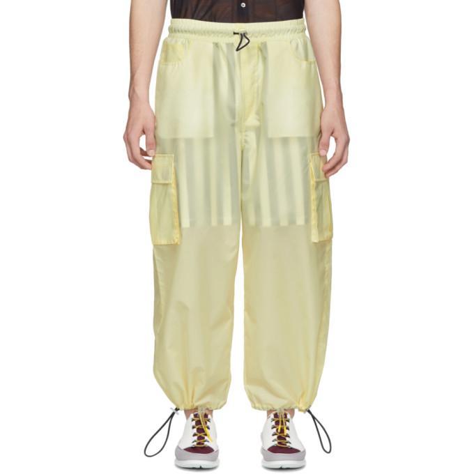 yellow double cargo pants