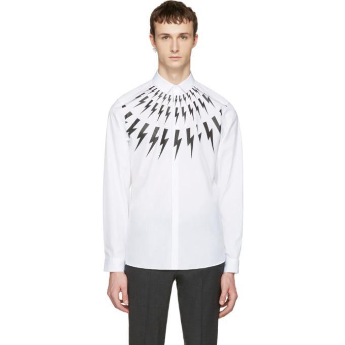 white thunderbolt shirt