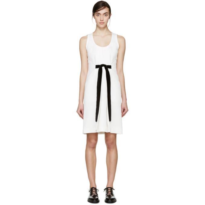 white jacquard velvet bow dress