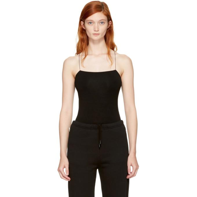 black strappy camisole