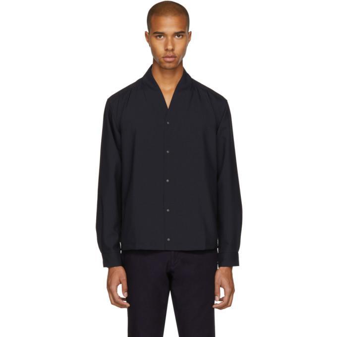 black & navy wa-neck shirt