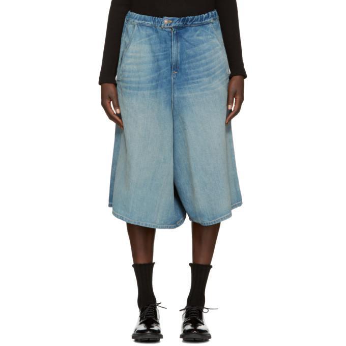 indigo denim shorts
