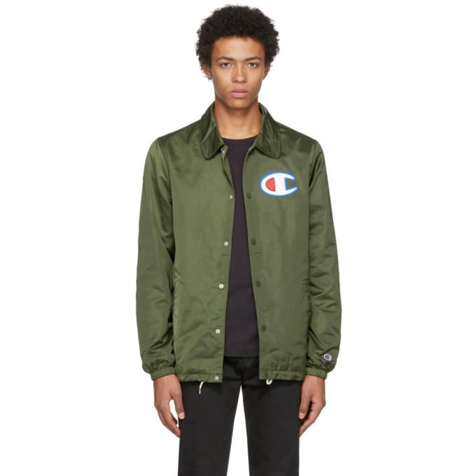 green logo coaches jacket