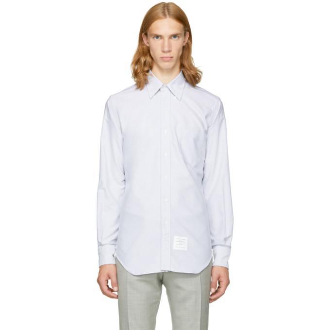 grey classic button-down shirt