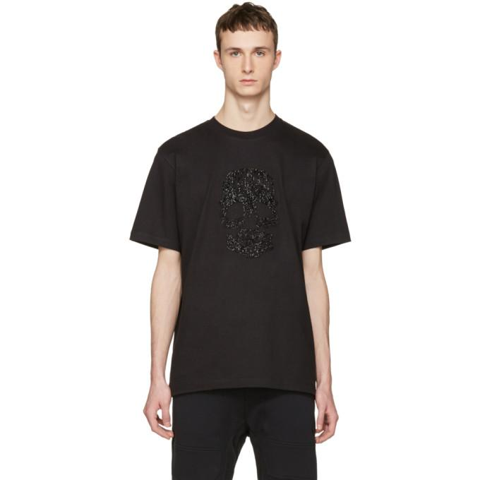black beaded skull t-shirt