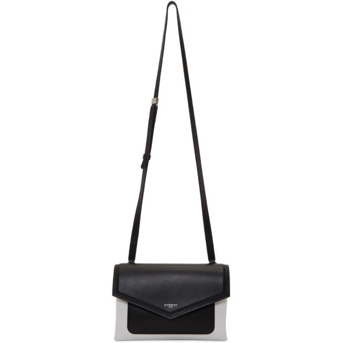 black & white duetto crossbody bag