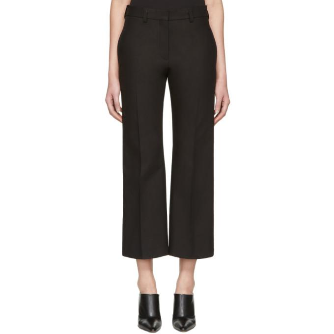 black lagan crop flare trousers
