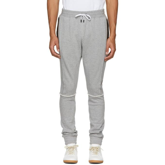 grey tapered lounge pants