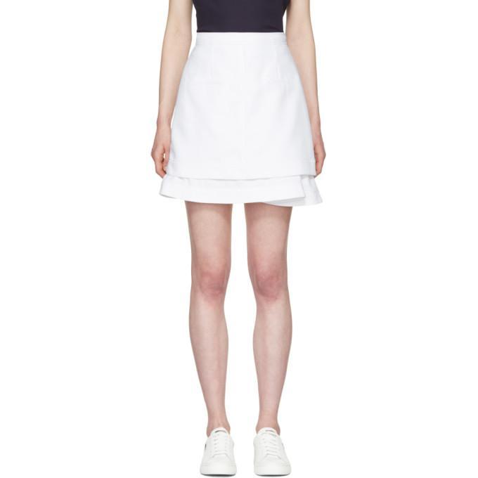 white peplum miniskirt