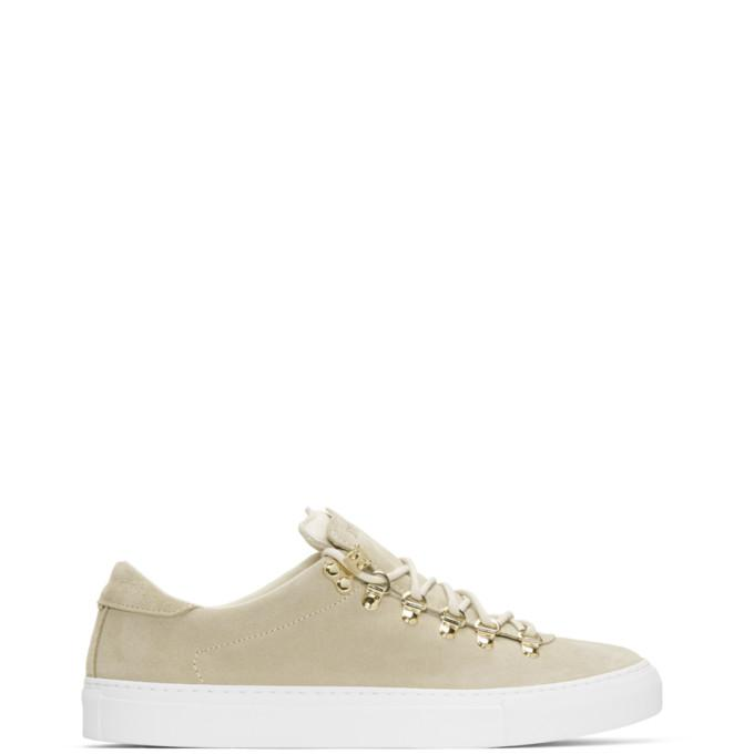 beige suede marostica low sneakers