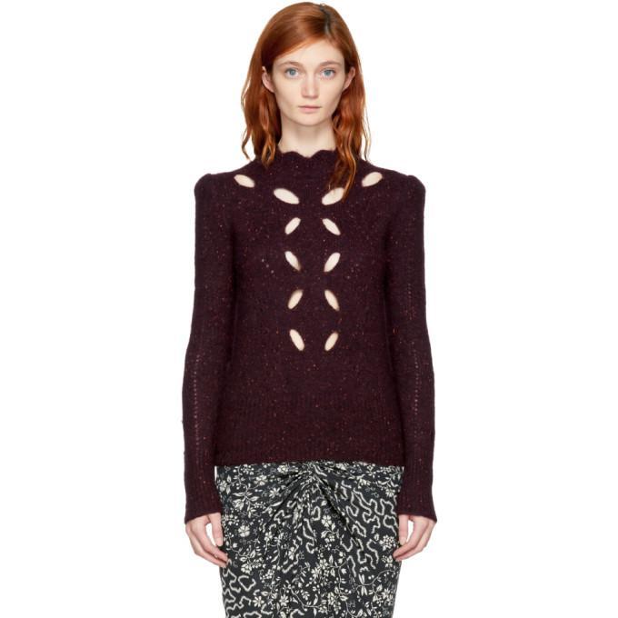 burgundy elea donegal sweater