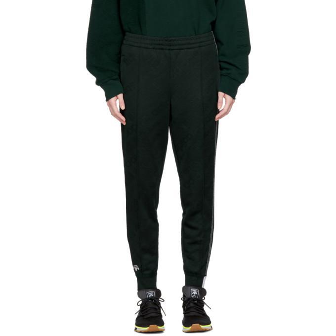 green aw jacquard track pants