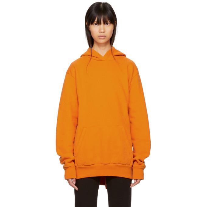 orange heavy brushed hoodie