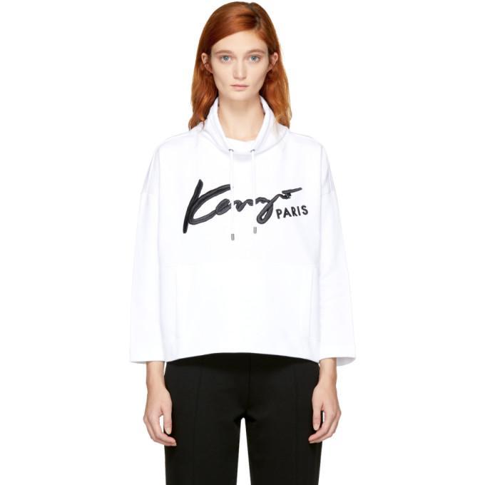 white signature logo sweatshirt
