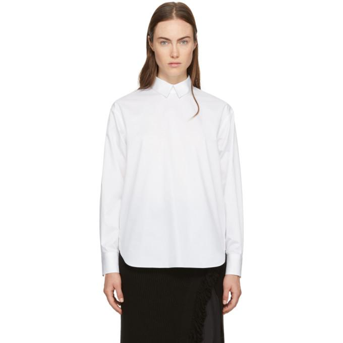 white shirt collar blouse