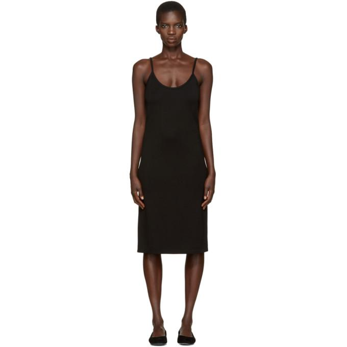 black sport slip dress