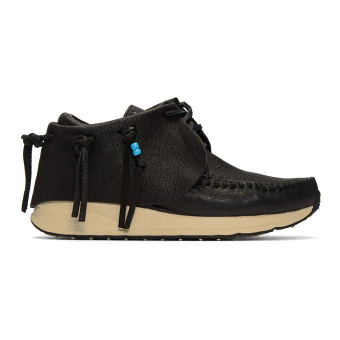 black fbt moccasin sneakers