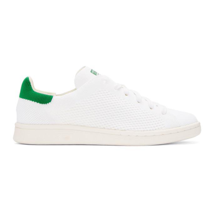 white & green stan smith og pk sneakers