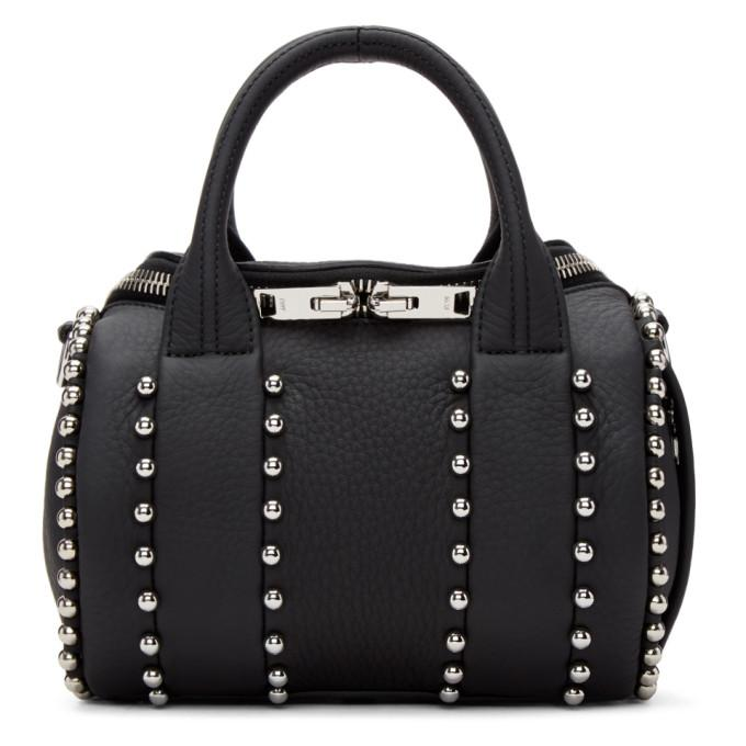 black mini rockie ball stud bag