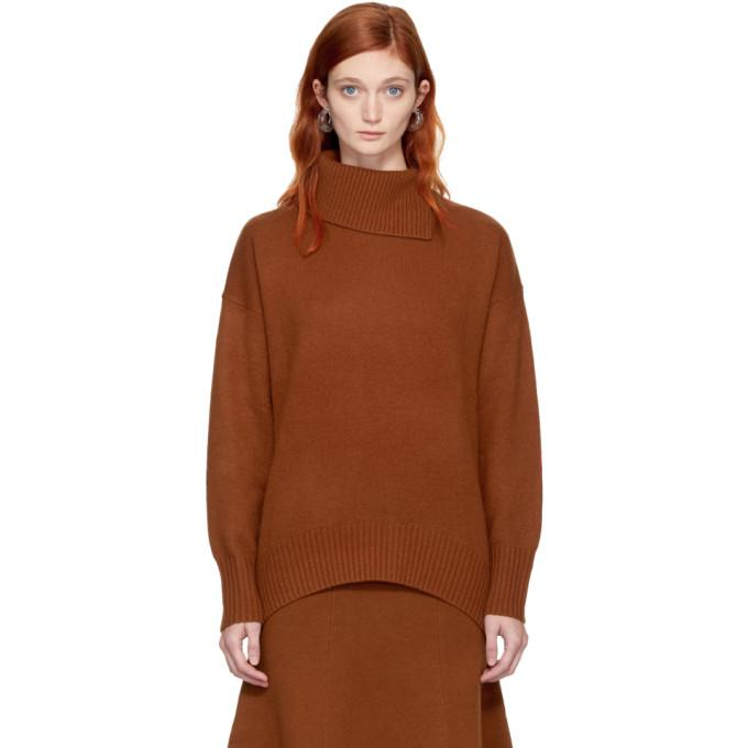orange wool turtleneck