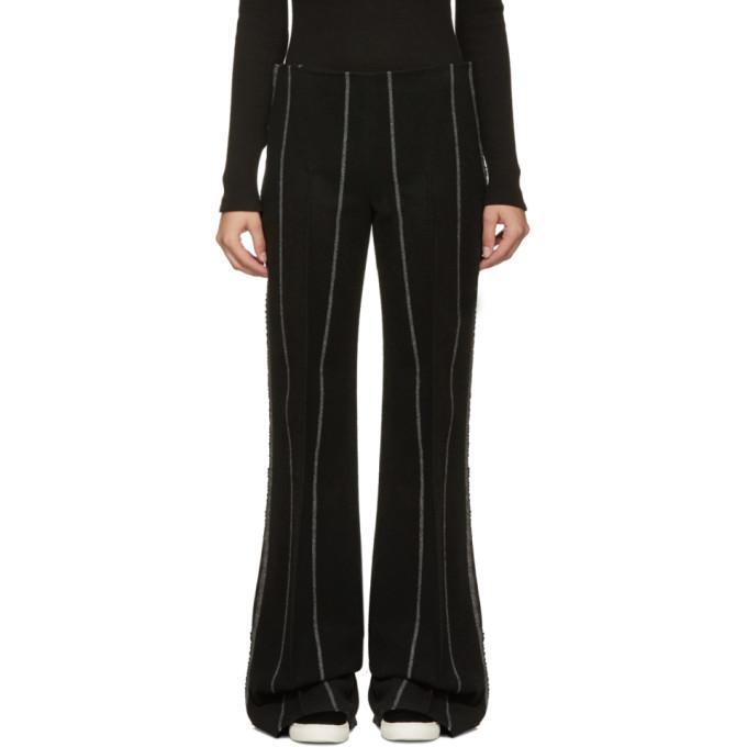 black pinstripe jadile trousers