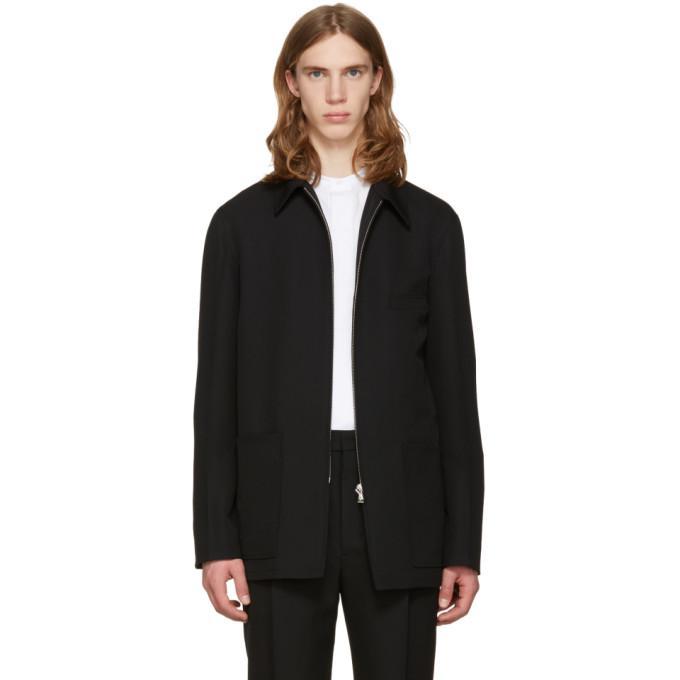 black zipped jacket
