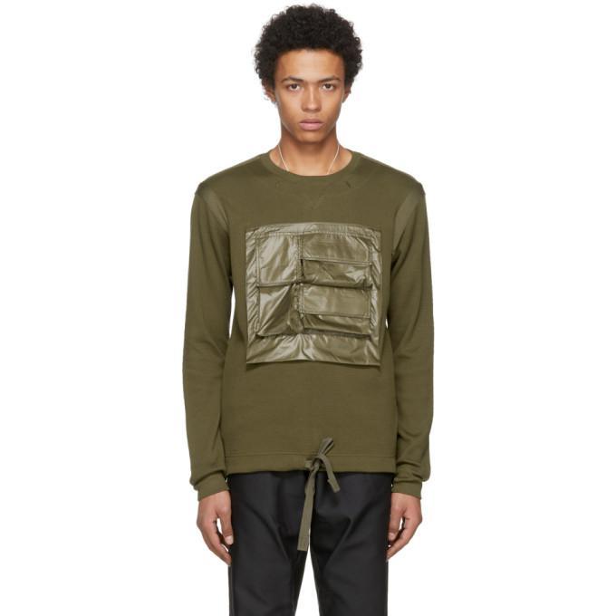 green mesh pocket pullover